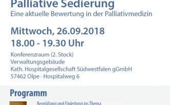 """Plakat zur Veranstaltung """"Palliative Sedierung"""""""